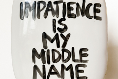 IMPATIENCE-IS-MY-MIDDLE-NAME-2016-porcelain-H40-x-W32-x-D8-cm